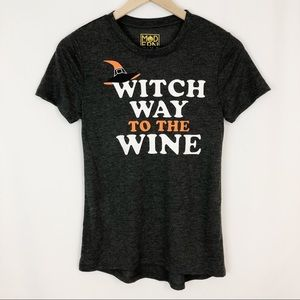 """🧤Halloween Graphic T """"Witch Way to the Wine"""" 